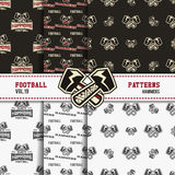 Set of american football patterns. Usa sports Stock Photography