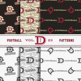 Set of american football patterns. Usa sports Stock Image