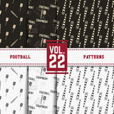Set of american football patterns. Usa sports Stock Photo