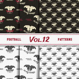 Set of american football patterns. Usa sports Royalty Free Stock Image
