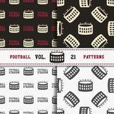 Set of american football patterns. Usa sports Royalty Free Stock Photos
