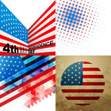 Set of american independence day background Royalty Free Stock Photos
