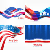 Set of american independence day background. Vector set of american independence day background illustration Royalty Free Stock Photo