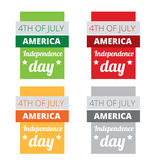 Set of american independence day Stock Photo