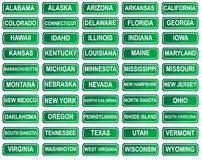 Set of American State signs Royalty Free Stock Images