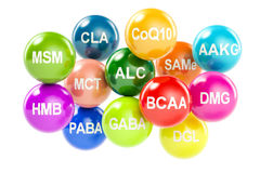 Set of amino acids. Stock Images