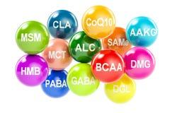 Set amino kwasy ilustracja wektor
