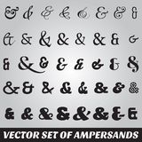 Set of ampersands from different fonts Stock Photography