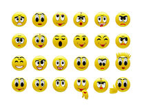 Set of amusing smilies Royalty Free Stock Photo