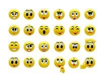 Set of amusing smilies. Isolated on the white Royalty Free Stock Photo
