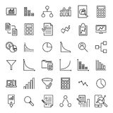 Set of analytic thin line icons. Royalty Free Stock Photography