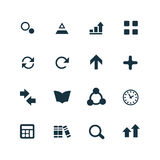 Set of analytics, research icons Stock Photo