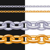 Set of anchor chains metal brushes. Royalty Free Stock Images
