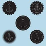 Set of anchor logo. Royalty Free Stock Photos