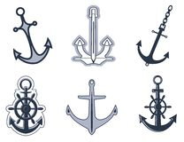 Set of anchor symbols Stock Photos