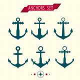Set of Anchors Vector. Royalty Free Stock Photography