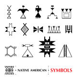 Set of ancient American decor. Tribal elements in contour style for native design. Royalty Free Stock Image