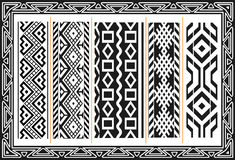 Set of ancient american indian patterns royalty free illustration
