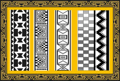 Set of ancient american indian patterns Stock Photography