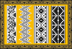 Set of ancient american indian patterns Royalty Free Stock Photography