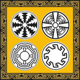 Set of ancient american indian patterns Stock Photo