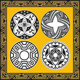 Set of ancient american indian vector patterns Stock Images