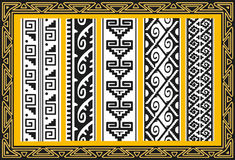 Set of ancient american indian vector patterns Royalty Free Stock Photos