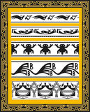 Set of ancient american indian vector patterns Royalty Free Stock Image