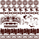 Set of ancient American ornaments royalty free stock photography