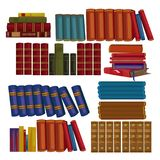 Set of ancient books, encyclopedias, volumes Royalty Free Stock Photo