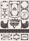 Set Of Ancient Frames In Art-Deco Style.  Royalty Free Stock Image