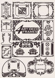 Set Of Ancient Frames In ArtDeco Style. Set Of Ancient Frames In Art-Deco Style Royalty Free Stock Images