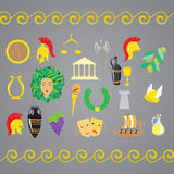 Set of ancient Greece elements Royalty Free Stock Images