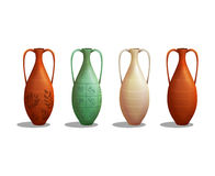 Set of ancient greek amphora isolated on white background. Vector illustration vector illustration