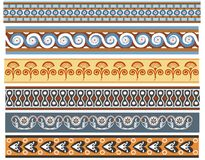 A set of Ancient minoan patten designs. An illustration set of 6 Ancient Minoan pattern designs vector illustration