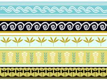 A set of Ancient minoan patten designs 2 Stock Image