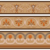 Set of ancient Roman ornaments  border patterns. Stock Image