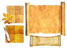 Set of ancient scrolls Royalty Free Stock Image