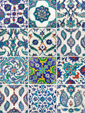 Set of ancient traditional handmade tiles - Islamic ornaments Stock Image
