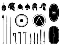 Set of ancient weapon and protective equipment. Stock Image