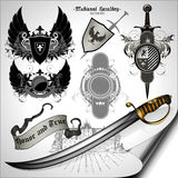 Set of ancient weapons Stock Images