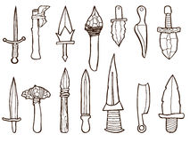 Set of ancient weapons. Royalty Free Stock Photography