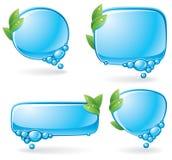 set anförande för bubblaeco Arkivfoton