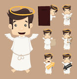 Set of angel characters poses Royalty Free Stock Photos
