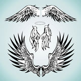 A set of angel wings image. A set of three wings of the angel figure Royalty Free Stock Photo