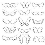 Set of angel wings on a white background. Calligraphy Vector illustration EPS10 Royalty Free Stock Photography