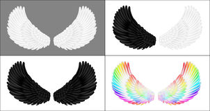 A set of angel wings Stock Images