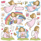 Set of the angels Royalty Free Stock Photography