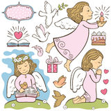 Set of the angels Royalty Free Stock Image