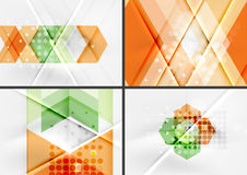 Set of angle and straight lines design abstract Stock Image